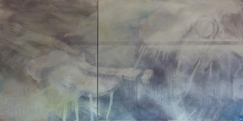 unter der oberfläche, Acryl auf Lwd, 200x100