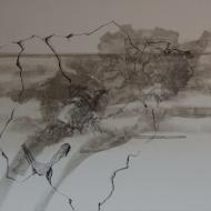 küstenfund IV, Mischtechnik auf Lwd, 120 x 100