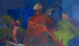 Auftritt, Öl, Acryl auf Leinwand, 170 x 100