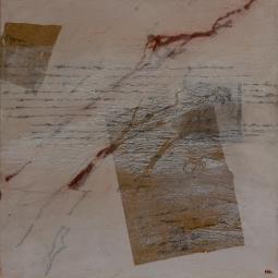 schriftgelehrt III, Öl, Wachs auf Lwd, 44x44