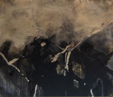 kokonversteck, Pigmente Sande, Aschen, 140x120