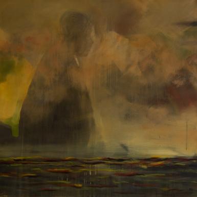 mönch, Acryl auf Lwd, 100x100